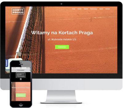 Logo i strona z systemem CMS dla Kortów Praga