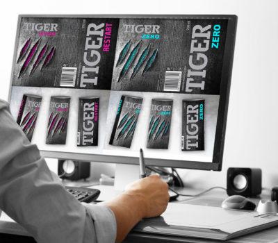 Projekty puszek dla Tiger Energy Drink
