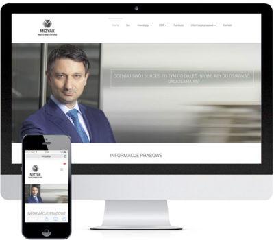 Strona internetowa Mizyak Inwestment Fund